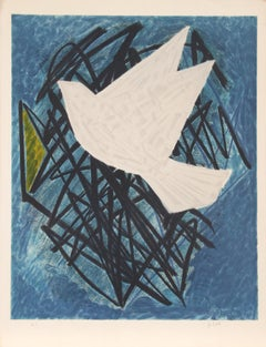 The Dove, Modern Lithograph by Emile Gilioli