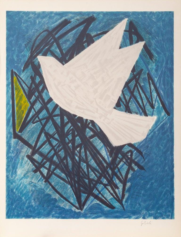 Émile Gilioli Animal Print - The Dove, Modern Lithograph by Emile Gilioli