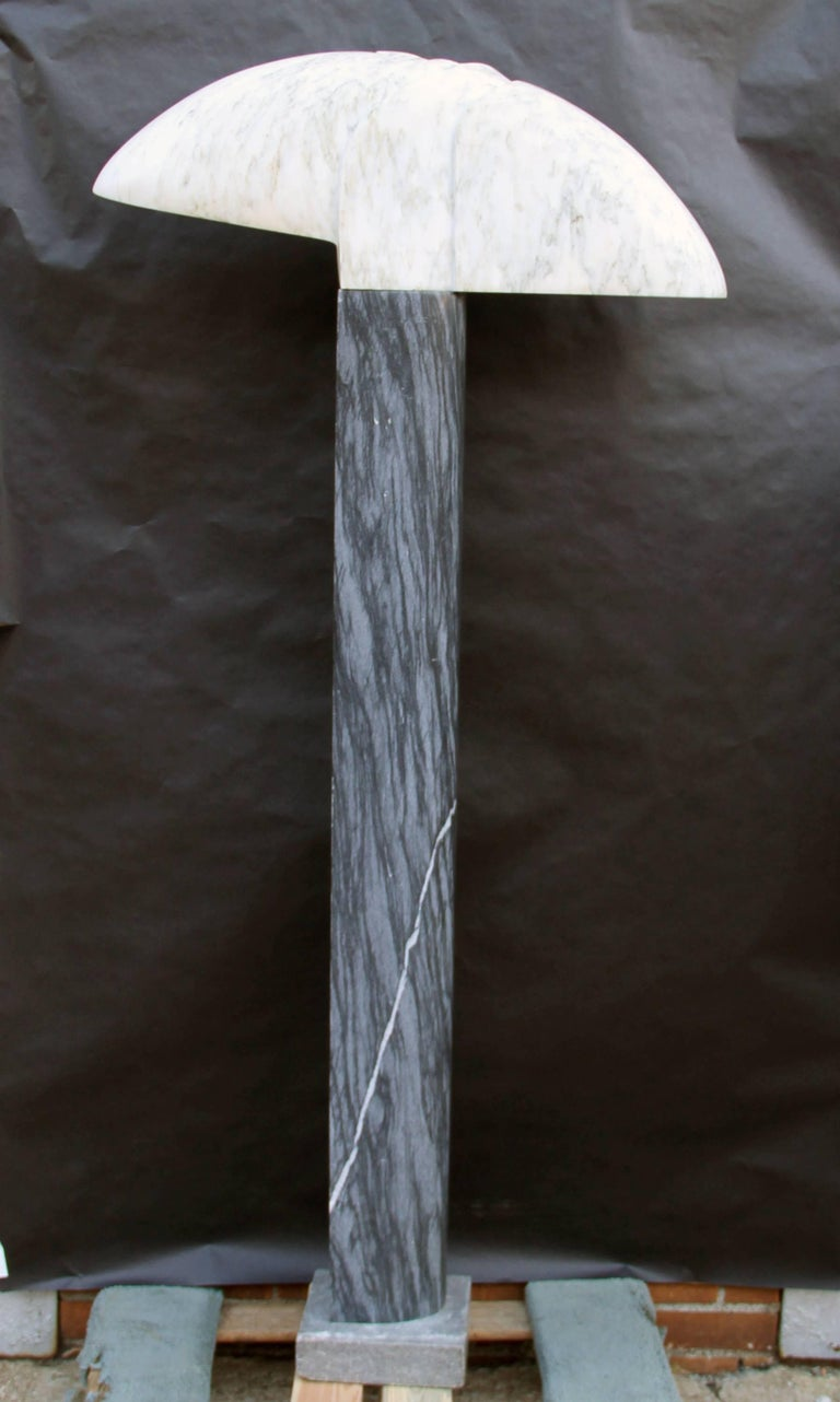 Column, Unique Carved Marble and Stone Column Sculpture by Emile Gilioli For Sale 3