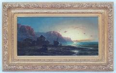 Emile GODCHAUX (1860-nc), painting 19th century, Marine