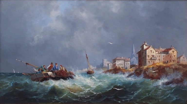 Marines in pair, Paintings 19th Century For Sale 5