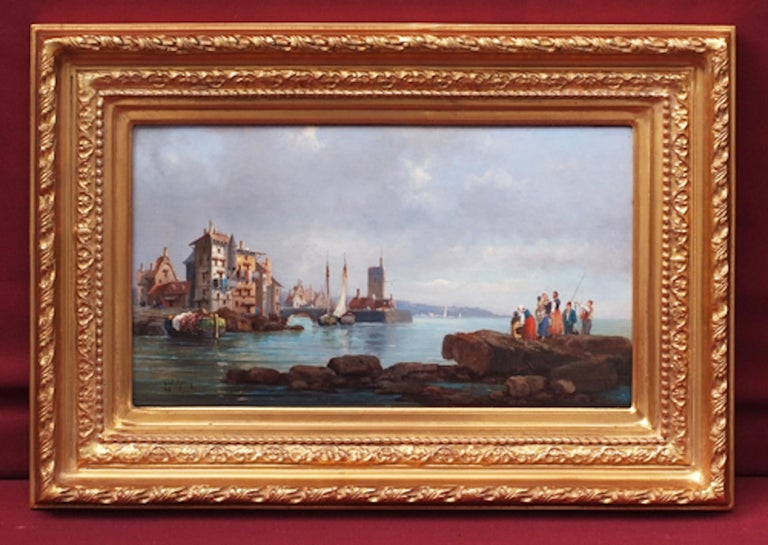 Marines in pair, Paintings 19th Century For Sale 6
