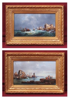 Marines in pair, Paintings 19th Century