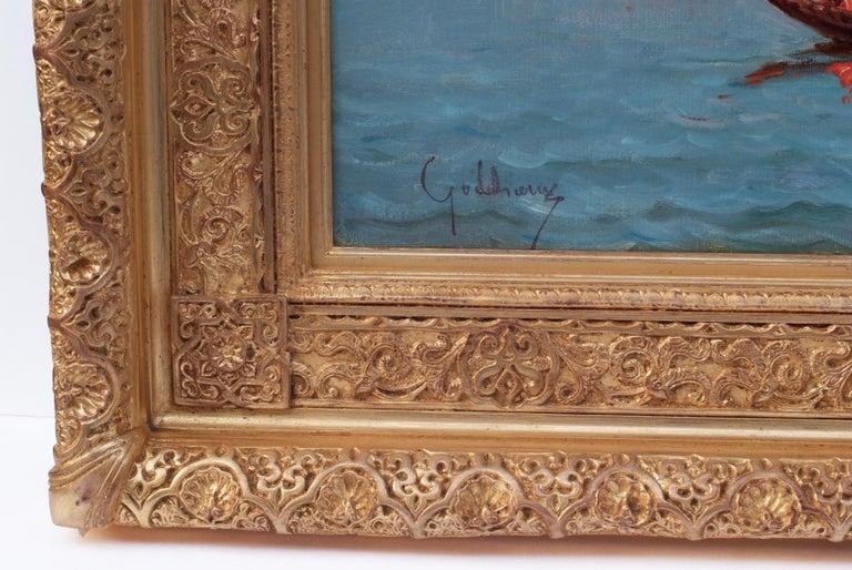 Paintings 19th Century - Orientalist Marines in pair For Sale 6