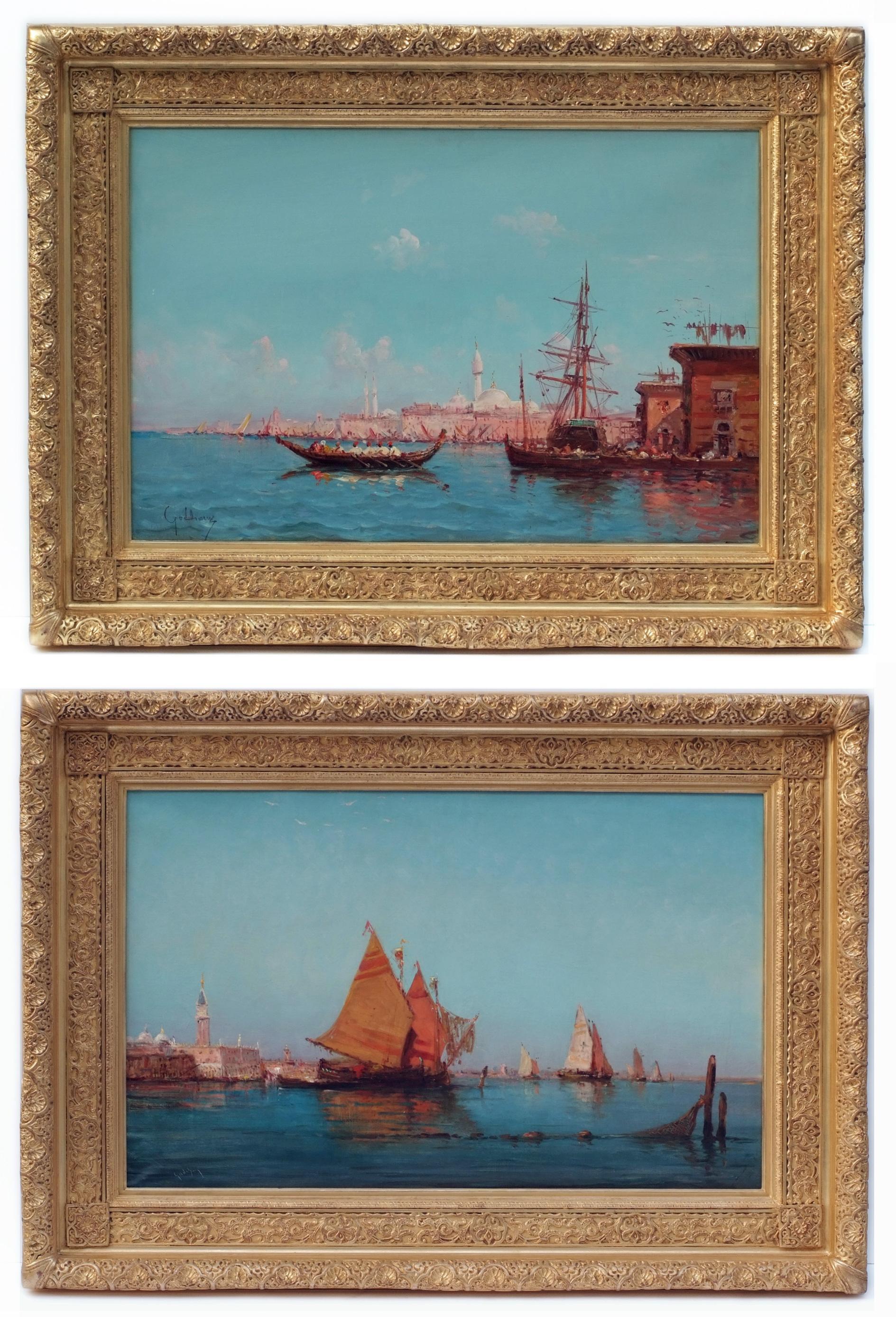 Paintings 19th Century - Orientalist Marines in pair