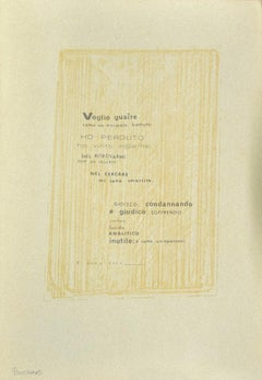 Poetry - Original Photo-lithograph on Cardboard - Early 20th Century