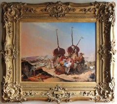 19th Century French Oil Painting Algeria - Capture of the Smalah of Abd el Kader