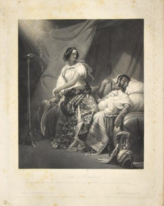 Judith & Holophernes - Etching by J.P.M. Jazet after H. Vernet - 19th Century