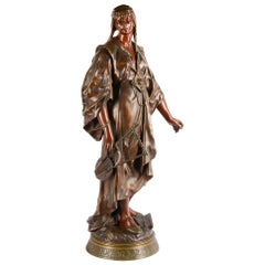 Émile-Louis Picault, a French Orientalist Bronze of Queen Esther