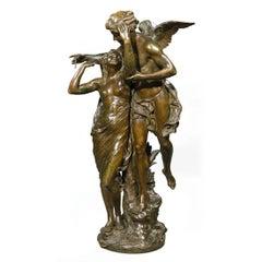 """Fine Bronze Figures Entitled """"Reveil de la Nature"""" by E. Picaul"""