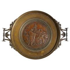 Emile Louis Picault French Bronze Tazza Compote Vide Pouche
