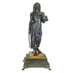 Patinated Bronze Figure of a Pharaoh