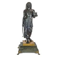 A Fine Émile Picault Patinated Bronze Figure of a Pharaoh