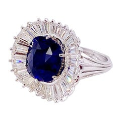 Emile Meister 7.97 Royal Blue Sapphire Ring