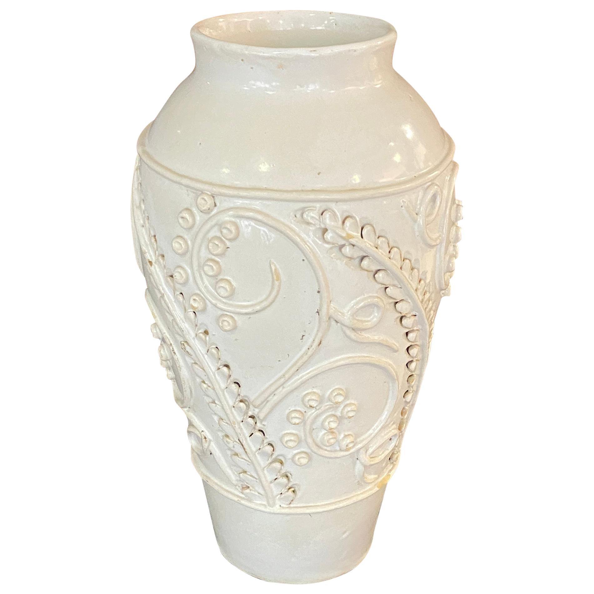 Emile Tessier Art Deco Ceramic Vase, Malicorne, circa 1930-1950