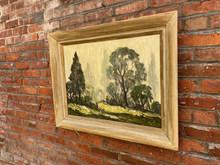A wonderful example of Emile Walters (1893-1977) impressionistic style of the 1930s- through to the end of his career. Oil on masonite board. Signed lower left, Emile Walters. Very good original condition with no visible issues, paint loss, crazing,