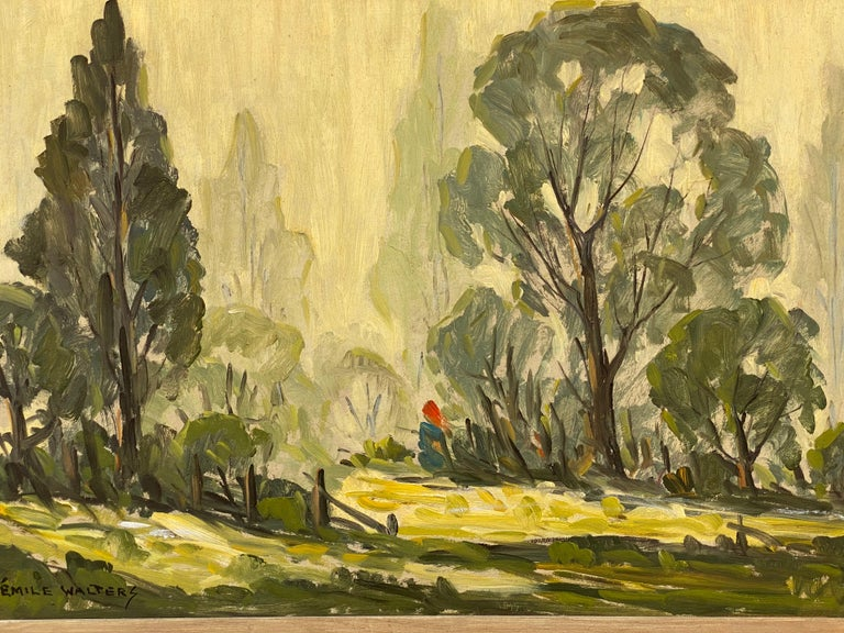 Emile Walters Landscape Painting In Good Condition For Sale In Garnerville, NY
