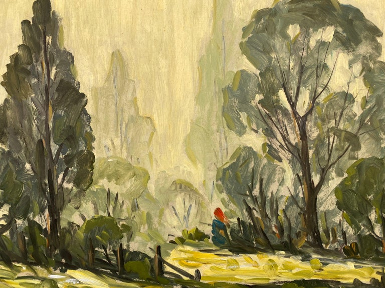 Mid-20th Century Emile Walters Landscape Painting For Sale