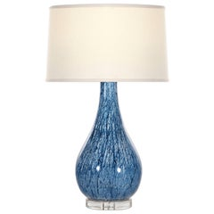 Emilia Table Lamp in Blue Ceramic by CuratedKravet