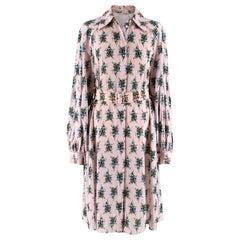 Emilia Wickstead Clarisse Belted Floral Crepe Dress - US size 4