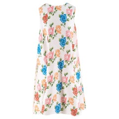 Emilia Wickstead White Floral Shift Dress UK 10