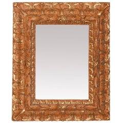 Emiliana Doppia Carved Wood Mirror