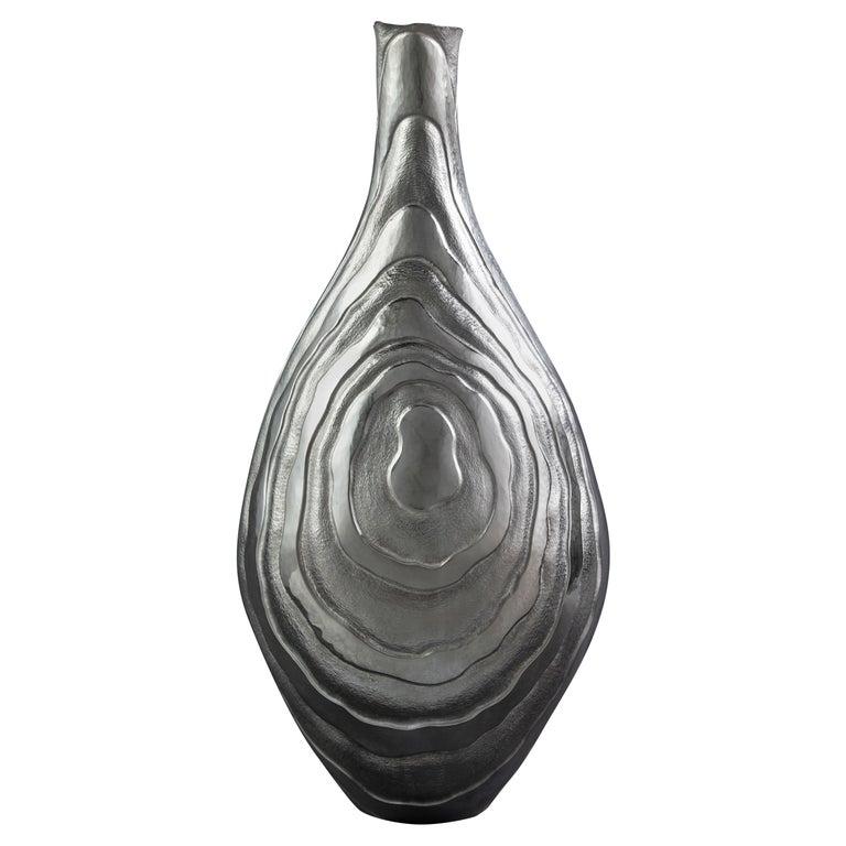 Emiliano Céliz, Coexistence II, Silver Plated Vase, Argentina, 2020 For Sale