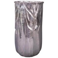 Emiliano Céliz, Flores y Pellines, No. 201, Silver Plated Vase, Argentina, 2020