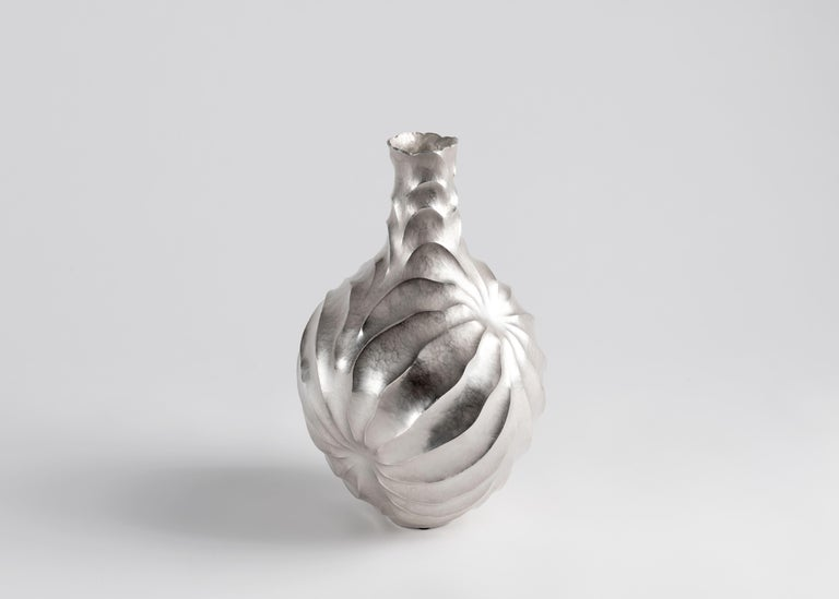 Silvered Emiliano Celiz, Opposite Attractive III, Sculptural Vase, Argentina, 2019 For Sale