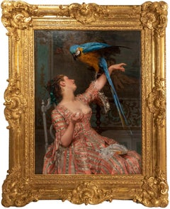 LADY WITH A PARROT (1873) BY ÉMILE VILLA
