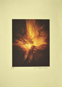Explosion - Original Lithograph by Emilio Conciatori - Late 20th Century