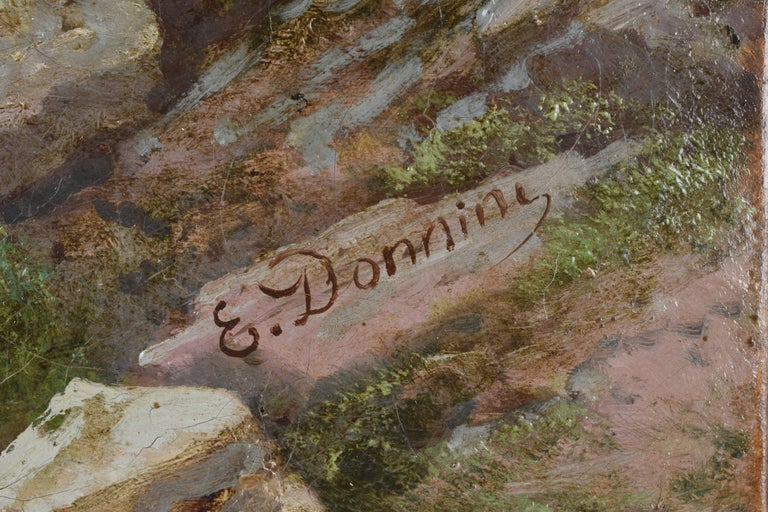 Emilio Donnini Tuscan Landscape, Oil on Canvas with Gilt Frame For Sale 2