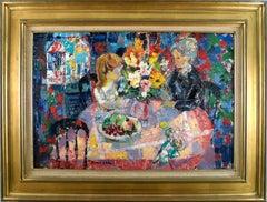 """""""Interieur aux Fleurs Jaunes"""", 20th Century Oil on Canvas by Emilio Grau Sala"""