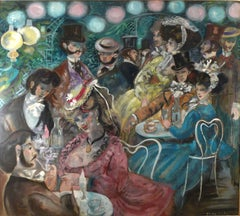 """Le Moulin de la Galette"", Large 20th Century oil on canvas by Emilio Grau Sala"