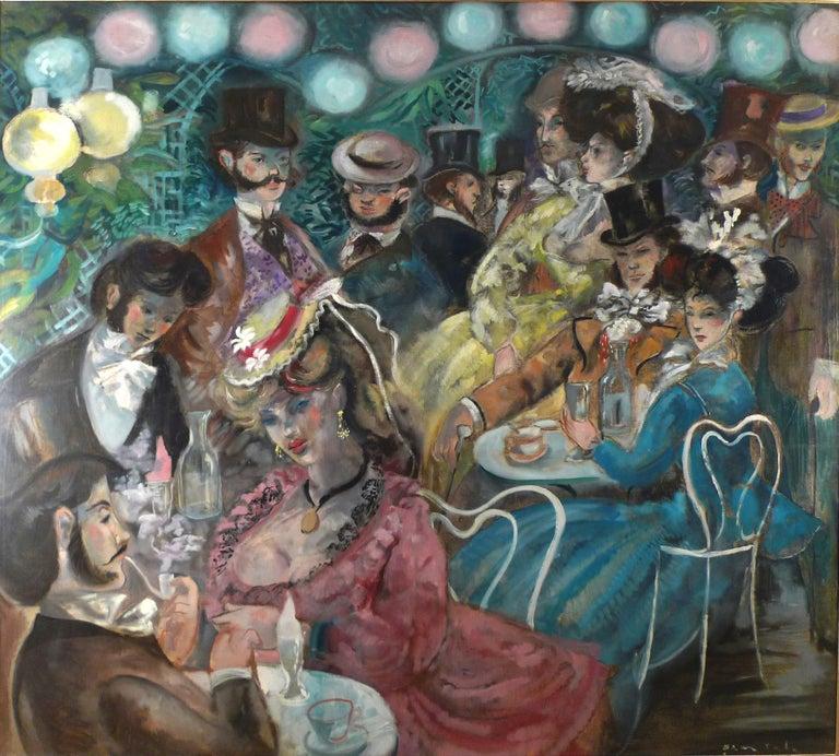 EMIILIO GRAU SALA  Spanish, 1911 - 1975 LE MOULIN DE LA GALETTE signed Grau Sala (lower right) oil on canvas 59-1/4 X 67-1/4 inches (150.5 X 170 cm.) framed: 62-1/2 X 70-1/4 inches (158 X 177.5 cm.)  Julián Grau Santos, son of the artist and expert