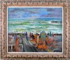 """""""Plage de Deauville"""" 1966-67, 20th Century oil on canvas by Emilio Grau Sala"""