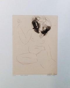 Erma Bifronte - Original Etching by Emilio Greco - 1969
