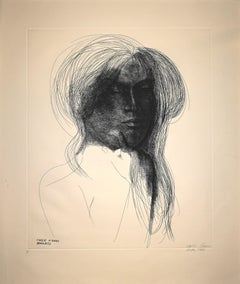 Inizio d'Anno (Beginning of the Year) - Original Etching by E. Greco - 1973