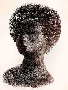 Nanda - Original Lithograph by Emilio Greco - 1955