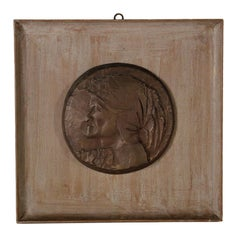 Bas-Relief by Emilio Greco - Portrait of Dante Alighieri, 1975