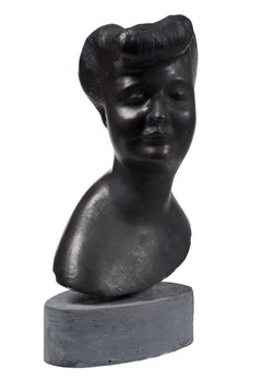 Head of Woman - Original Bronze Sculpture by Emilio Greco - Second Half of 1900