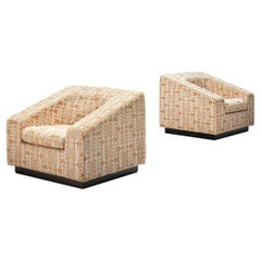 Emilio Guarnacci for Uno Pi Pair of 'Dahlia' Lounge Chair in Original Patterned
