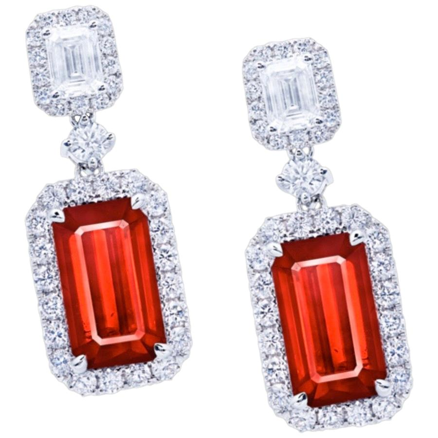 Emilio Jewelry 10.00 Carat Certified Unheated Ruby Earrings