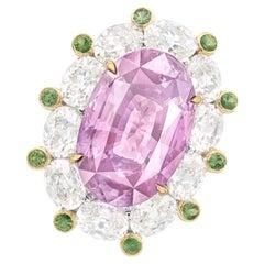 Emilio Jewelry 11 Carat Padparascha Ring