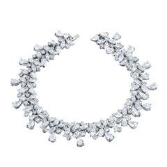Emilio Jewelry 15.72 Carat Fancy Cut Diamond Bracelet