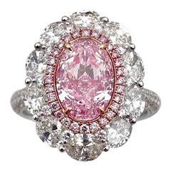Emilio Jewelry 1.70 Carat GIA Certified Pure Pink Diamond Ring