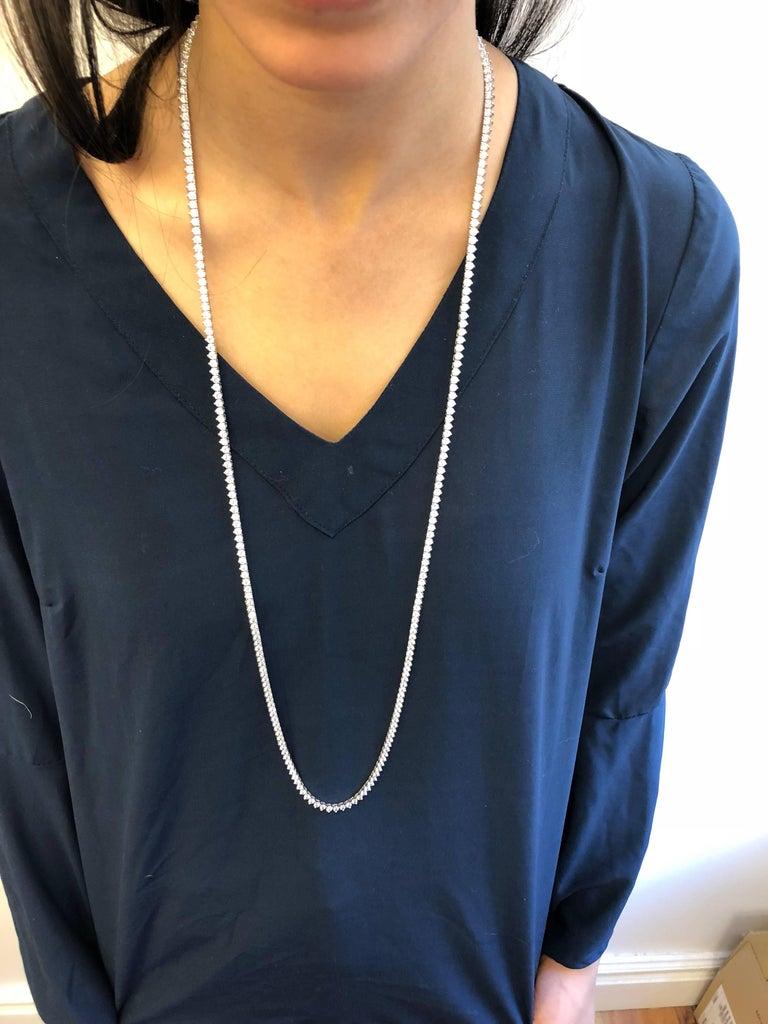 Emilio Jewelry 17.00 Carat Diamond Necklace For Sale 5