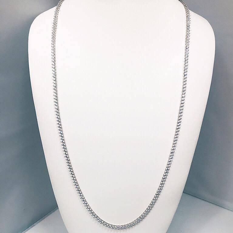 Modern Emilio Jewelry 17.00 Carat Diamond Necklace For Sale