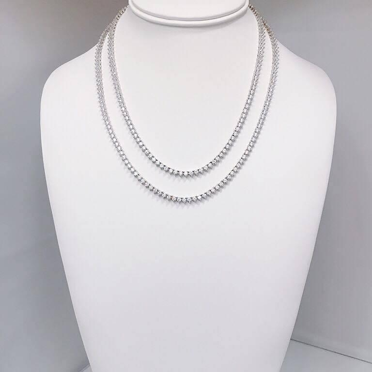 Emilio Jewelry 17.00 Carat Diamond Necklace In New Condition For Sale In New York, NY