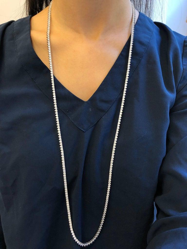 Emilio Jewelry 17.00 Carat Diamond Necklace For Sale 1